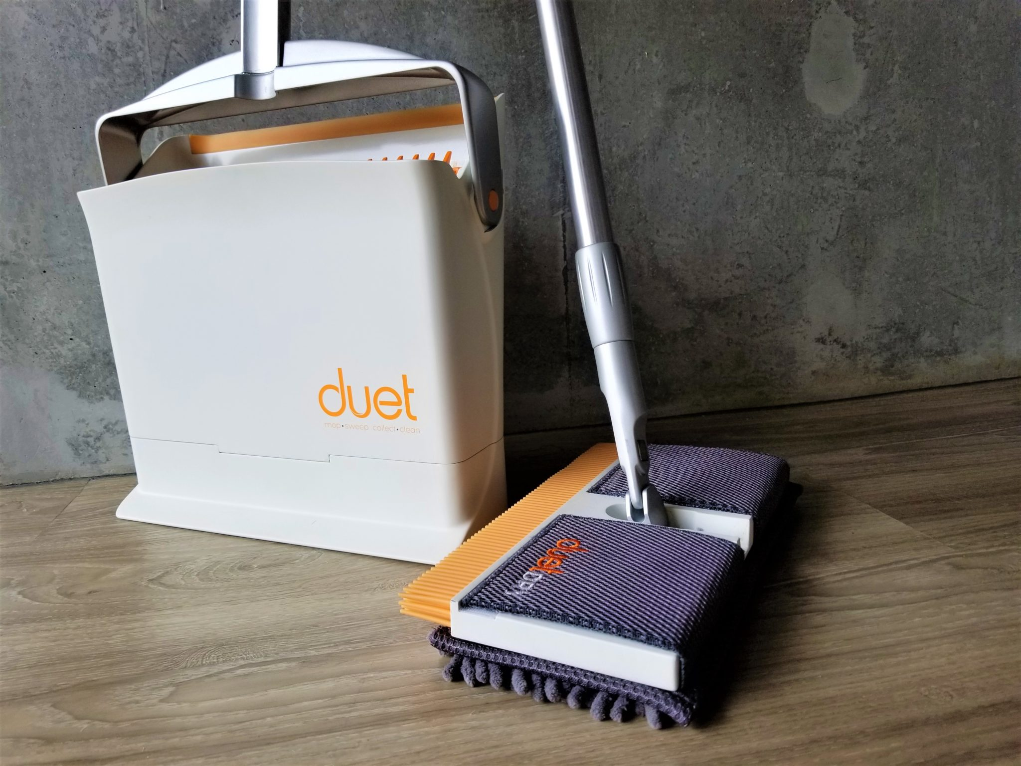 Duet All In One Microfiber Dust Mop Sweeping Broom And